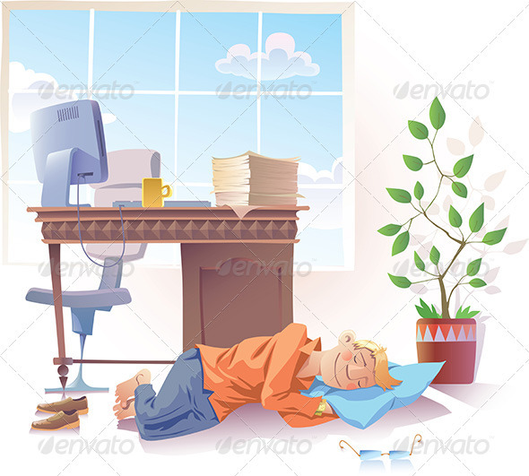 Sleeping at Office - Concepts Business