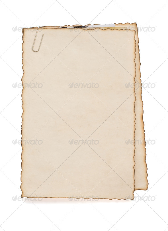 paper vintage parchment on white - Stock Photo - Images