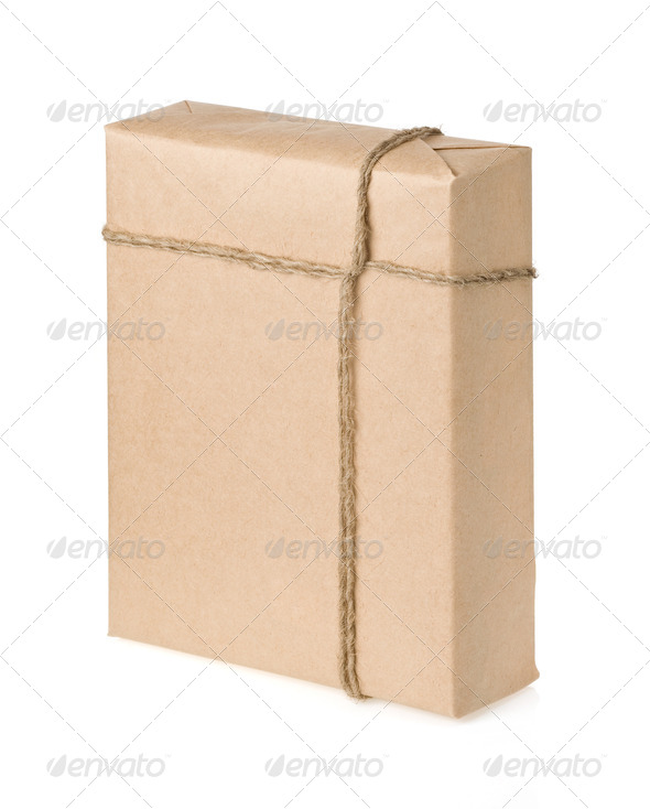 parcel isolated on white - Stock Photo - Images