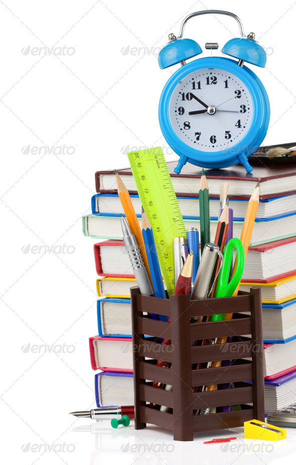 back to school concept on white - Stock Photo - Images