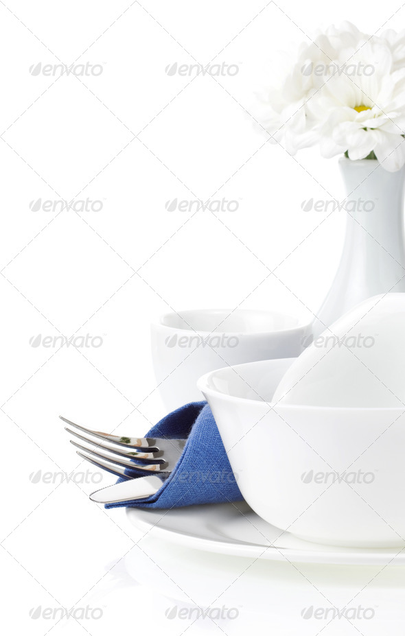 set of clean dishes - Stock Photo - Images