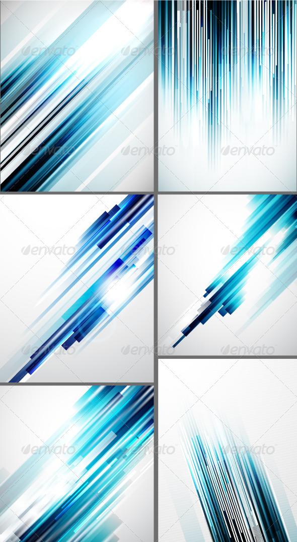 Shiny Blue Lines Backgrounds - Backgrounds Decorative