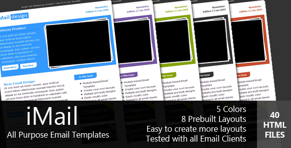 Free Download iMAIL - All Purpose Email Template Nulled Latest Version