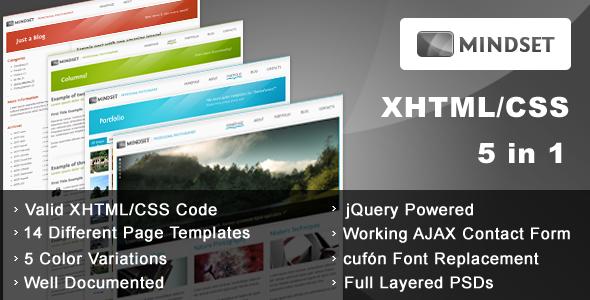 Free Download Mindset - HTML Portfolio, Magazine template Nulled Latest Version
