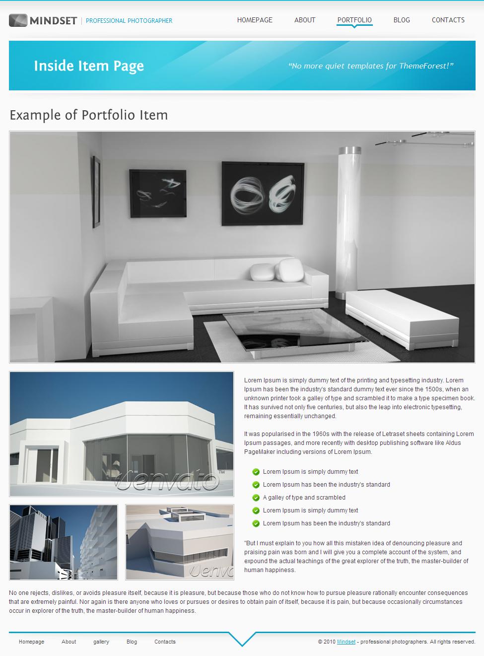 Mindset - HTML Portfolio, Magazine template by Valuediz | ThemeForest