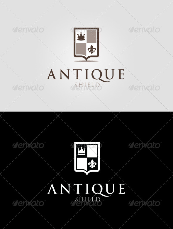 Antique Shield Logo Template - Crests Logo Templates