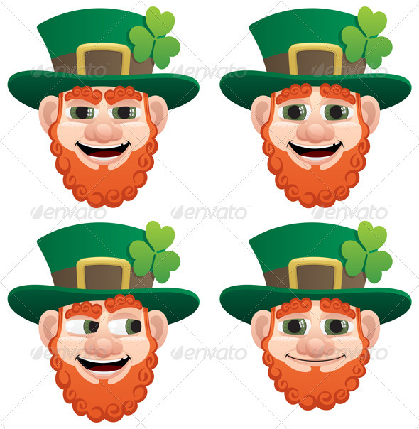 Leprechaun Head - Characters Vectors