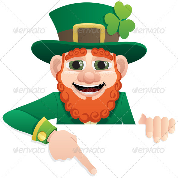 Leprechaun Sign 2 - Characters Vectors
