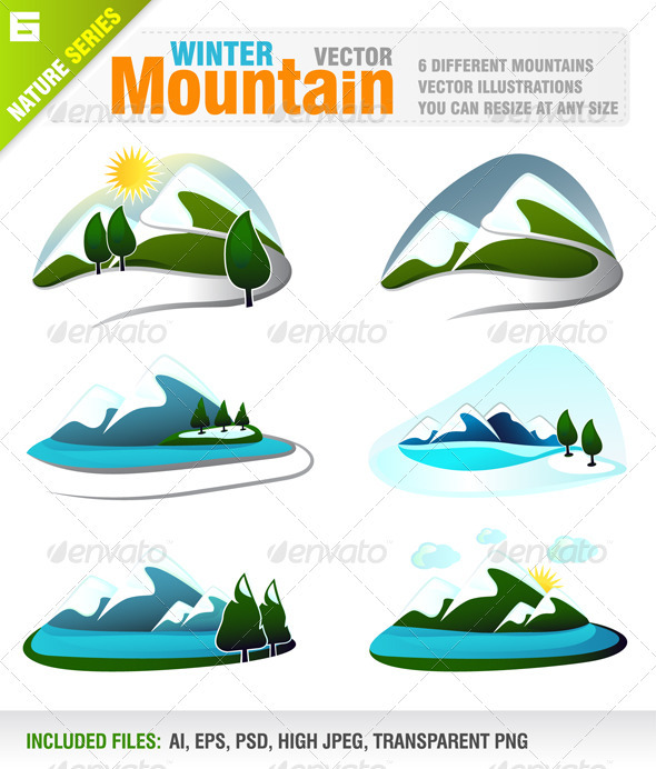 6 Winter Mountains - Nature Conceptual