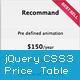jQuery CSS3 Price Table Plugin
