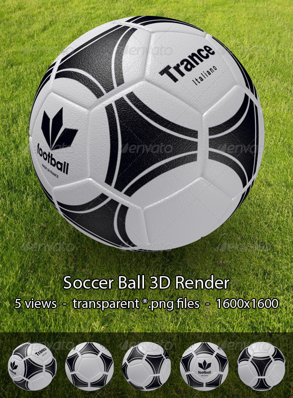 Football/Soccer Ball - Objects 3D Renders