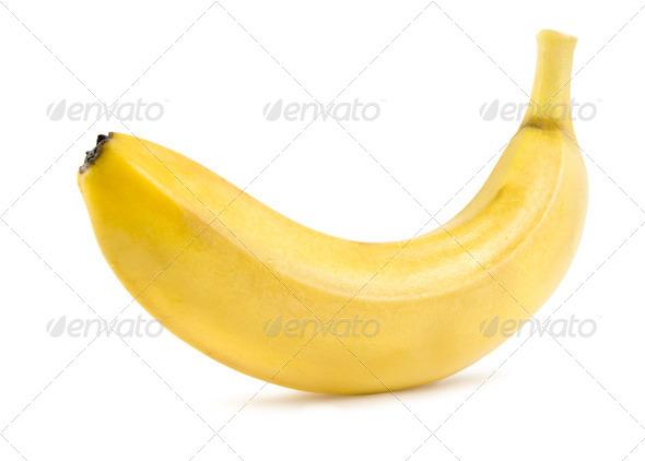Ripe banana isolated - Stock Photo - Images