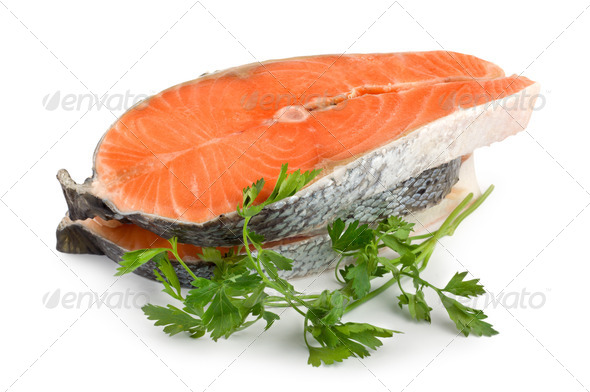 Salmon isolated - Stock Photo - Images