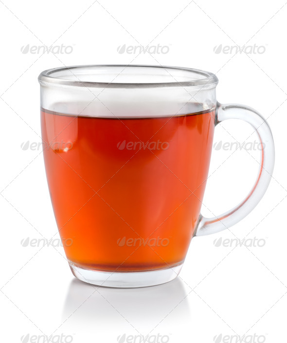 Tea in glass cup (Path) - Stock Photo - Images