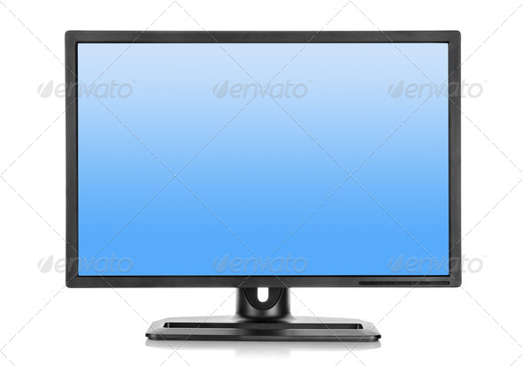 Liquid-crystal display on a white background - Stock Photo - Images