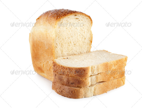 Fresh white bread isolated - Stock Photo - Images
