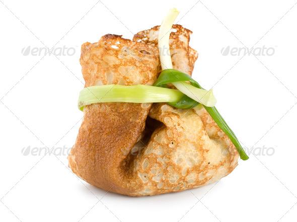 Stuffed pancake - Stock Photo - Images
