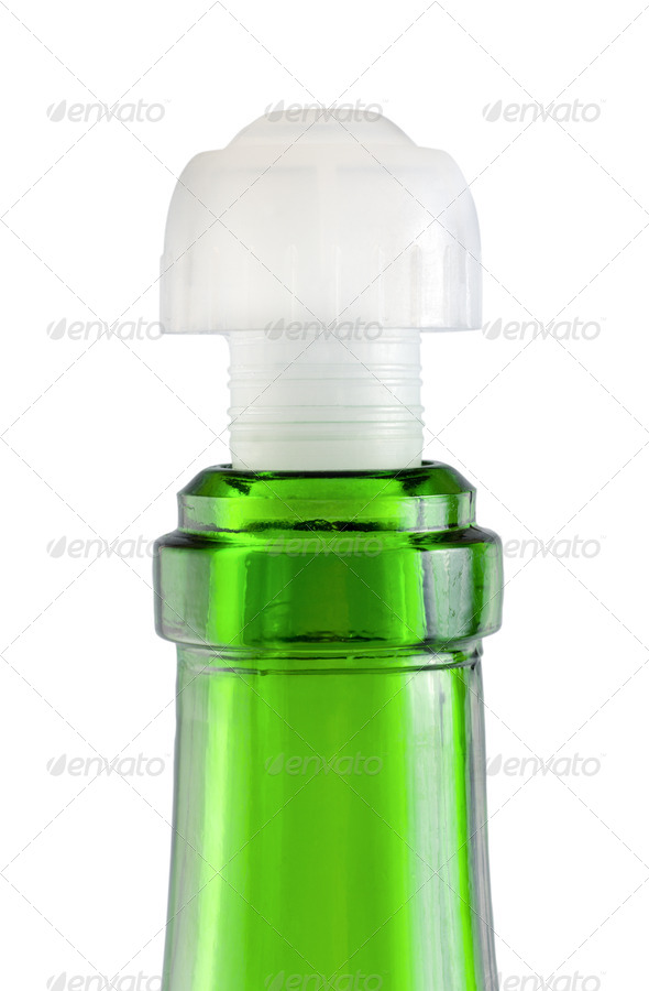 Empty wine bottle isolated - Stock Photo - Images