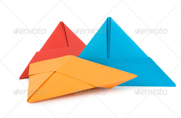 Papers hats isolated - Stock Photo - Images