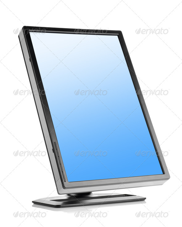 Monitor isolated - Stock Photo - Images