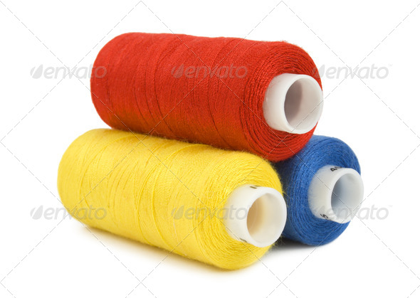 Thread spools isolated - Stock Photo - Images