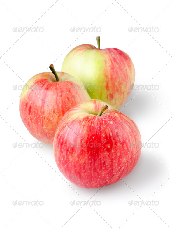Three ripe apples - Stock Photo - Images