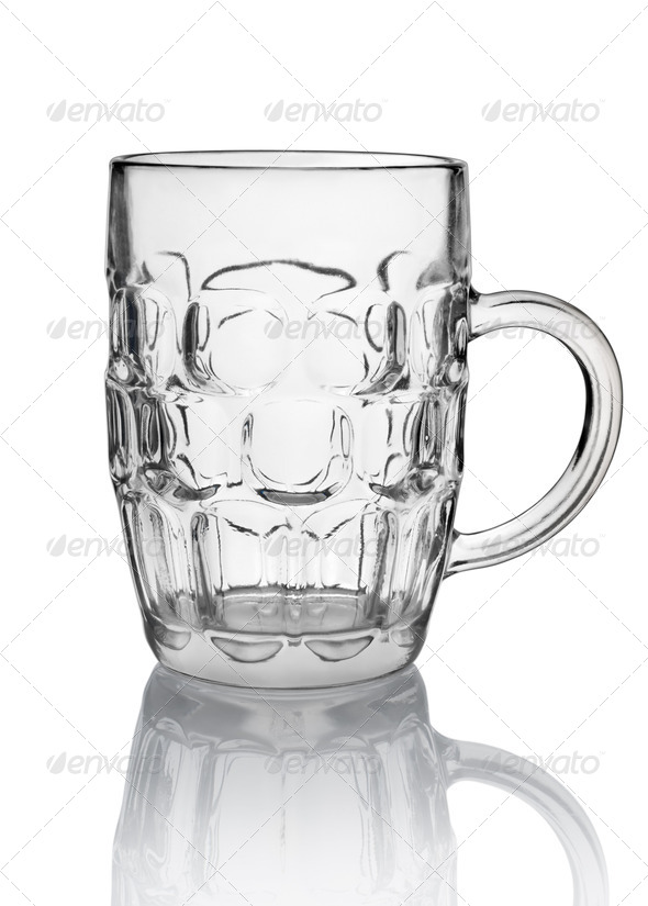 Big beer glass isolated - Stock Photo - Images
