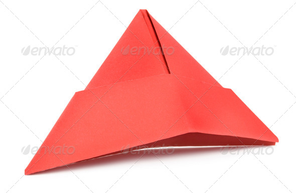 Red paper hat - Stock Photo - Images