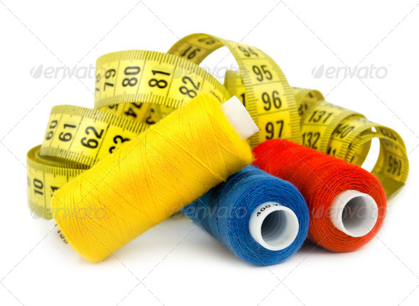 Three colored spools - Stock Photo - Images