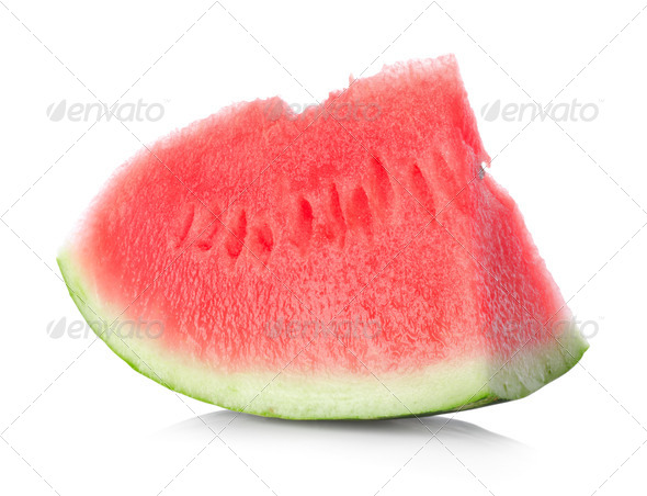 Juicy piece of watermelon - Stock Photo - Images