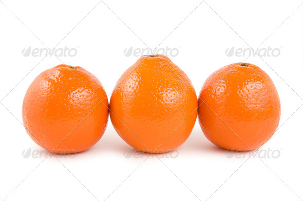 Three oranges - Stock Photo - Images