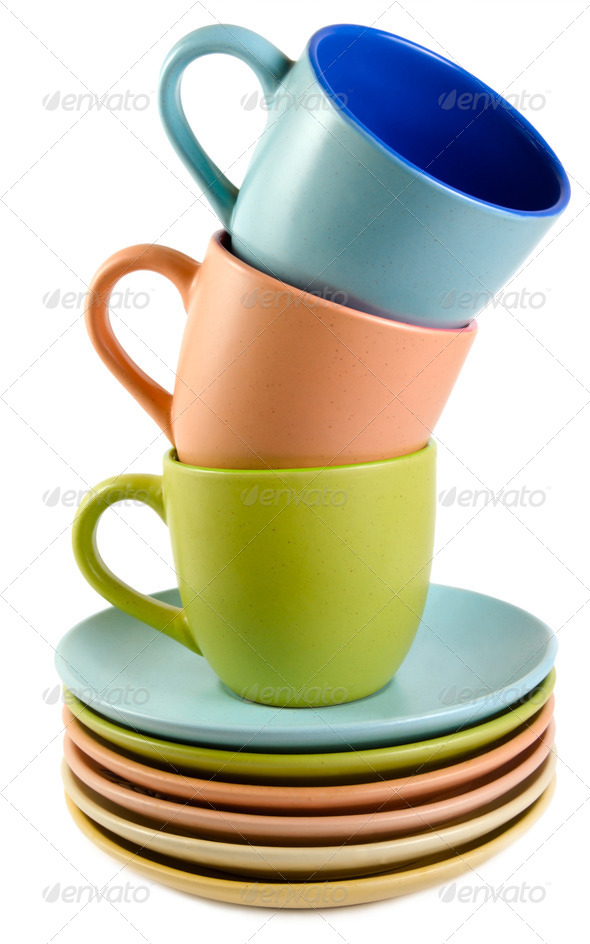 cups and dishes - Stock Photo - Images