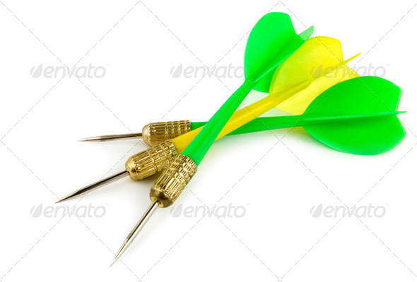 Dart on a white background - Stock Photo - Images