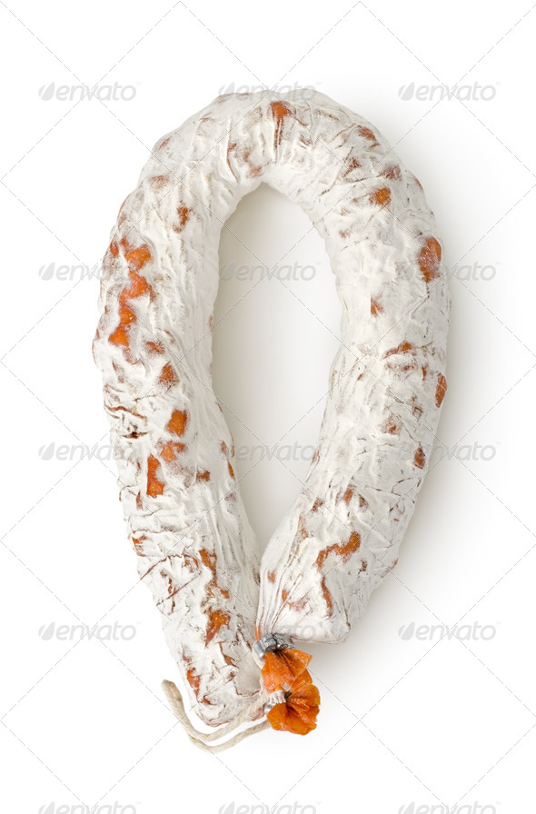 Salami sausage Clipping Path - Stock Photo - Images