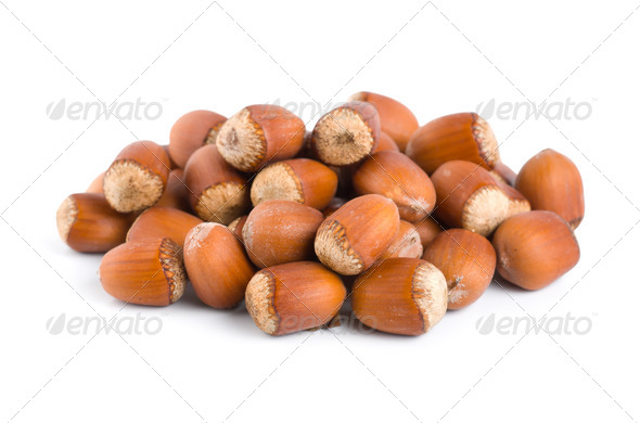 Nuts on white background - Stock Photo - Images