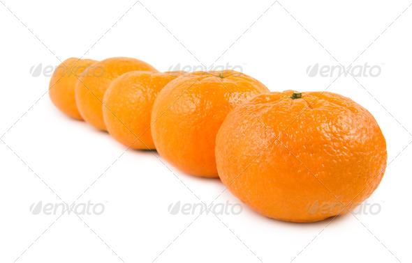 Group of mandarin - Stock Photo - Images