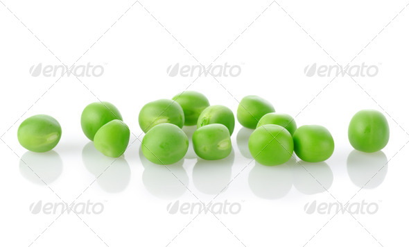 Raw green peas isolated - Stock Photo - Images