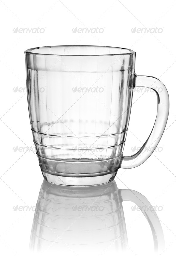 Empty big beer glass - Stock Photo - Images