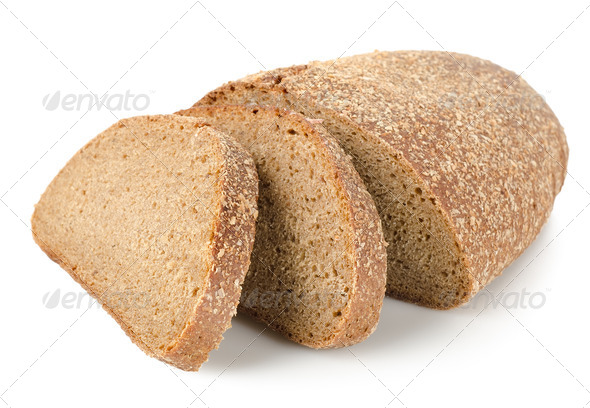 Rye bread isolated - Stock Photo - Images