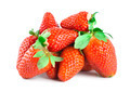 Juicy strawberries isolated