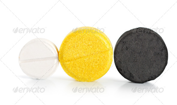 Pills isolated - Stock Photo - Images
