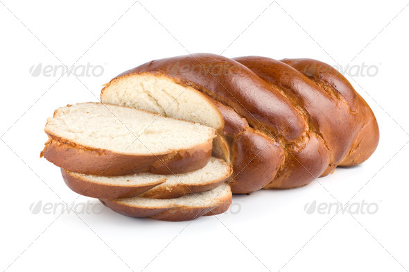 Chunks of sweet bread isolated - Stock Photo - Images