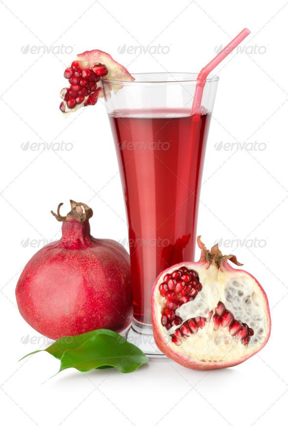 Pomegranate juice - Stock Photo - Images