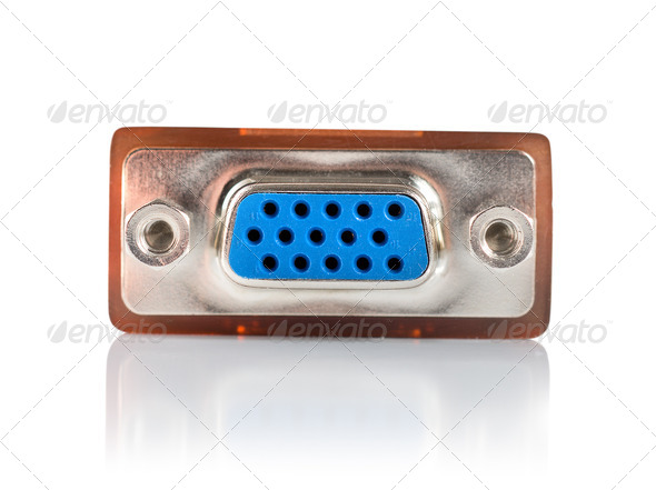 Monitor connector isolated - Stock Photo - Images