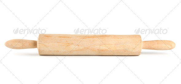 Wooden rolling pin - Stock Photo - Images