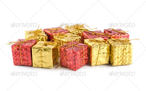 Gift Boxes isolated - Stock Photo - Images