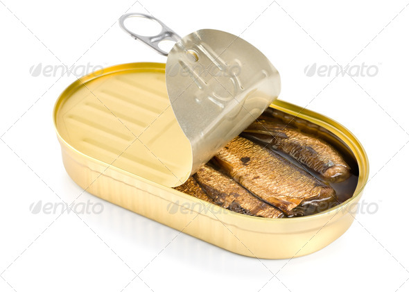 Sprat fish canned - Stock Photo - Images