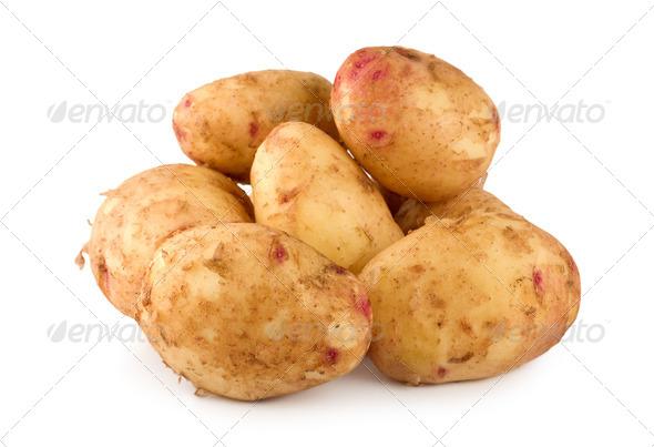 Raw potatoes - Stock Photo - Images