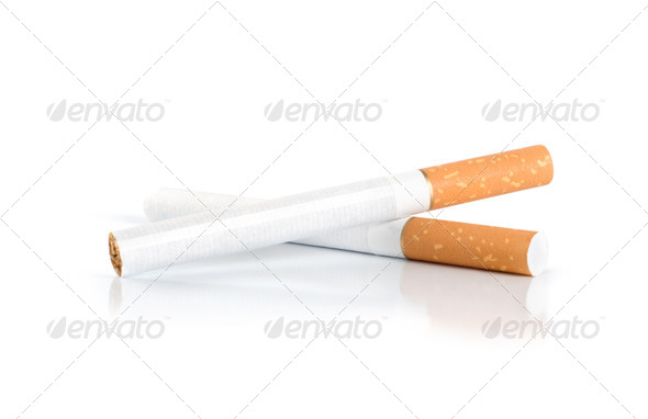 Two cigarettes (Path) - Stock Photo - Images
