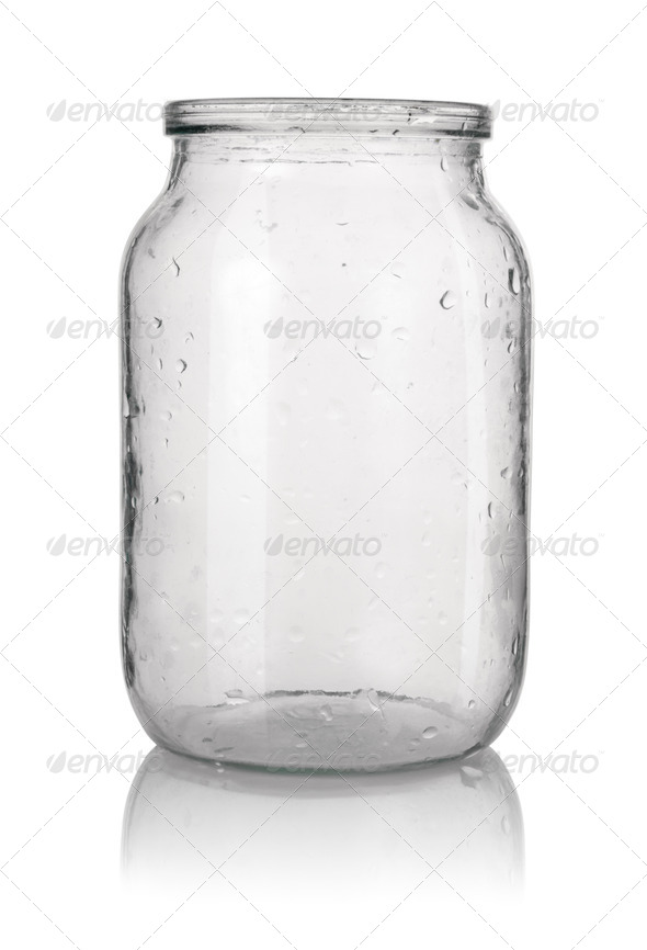Empty glass jar - Stock Photo - Images